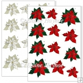 Decorative Poinsettas Embellishments