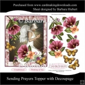 Sending Prayers Topper with Decoupage