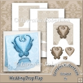 Wedding Drop Flap Card