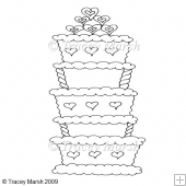 Wedding Cake 1 Clipart - Digital Stamp