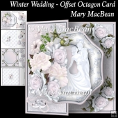 Winter Wedding - Offset Octagon Card