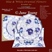 Blue & White Oriental Flowers - Easel Kit