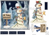 Snowmans twinkle star 7x7 card
