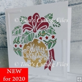 Beautiful Christmas Bauble Square Greetings Card