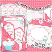Hey Cupcakes Scalloped Pocket Card