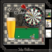 Darts and Lager 8x8 Decoupage Mini Kit