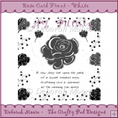 Rose Card Front - White