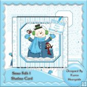 Snow Folk 1 Shadow Box Card