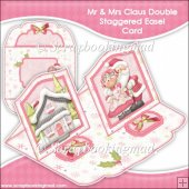 Mr & Mrs Claus Double Staggered Easel Card