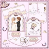 On This Your Wedding Day - Double Staggered Easel Card