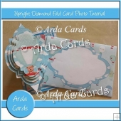 Upright Diamond Fold Card Photo Tutorial
