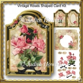 Vintage Roses Shaped Card Kit