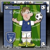 Football Crazy Blue Mini Kit Birthday/Fathers Day