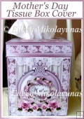 Elegant Mother's Day Kleenex Tissue Box Cover with Directions