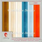 Day at the Beach Cardstock Digital Papers Package