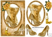 gold basque with gold rose and accessories A5
