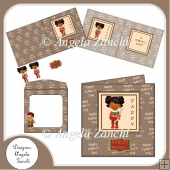 ETHNIC GIRL 6X6 FATHER'S DAY CARD