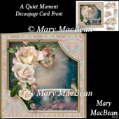 A Quiet Moment Decoupage Card Front