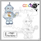 Flower Robot and Sentiment Digital Stamps