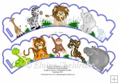Jungle Fun Wild Animals CupCake Wrappers