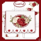 Red roses fancy bottom card set