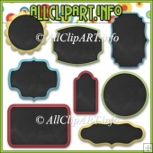 Chalk Board Frame Commercial Use Elements
