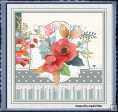 countryside flower 7x7 card