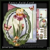 Oval fancy fold card kit Iris