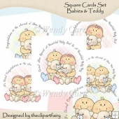 Square Cards Set Babies & Teddy(Retiring in July)