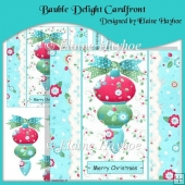 Bauble Delight Cardfront with Decoupage