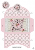Pink Butterfly Clock Money Wallet