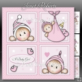 Baby Girl Squares Mini Kit