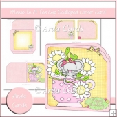 Mouse In A Teacup Scalloped Corner Card