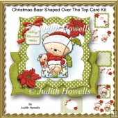 Christmas Bear Shaped Over The Top Card Kit