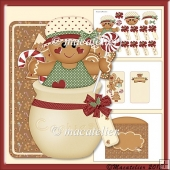 Christmas Cookies Girl: Over The Edge Card