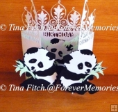 Panda Door Card, SVG, MTC, SCAL, CRICUT, CAMEO, ScanNCut