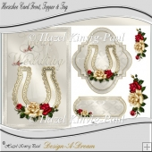 Horseshoe Card Front, Topper & Tag