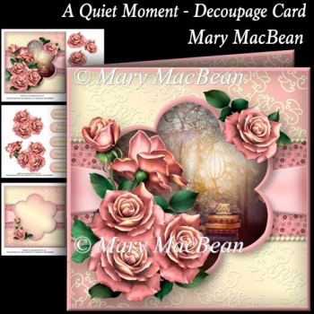 A Quiet Moment - Decoupage Card