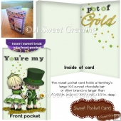 Pot Of Gold Saint Patrick's Day Large Candy Bar Card