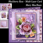 Blackberry Rose - Multi-Layer Card
