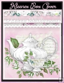 Afternoon Tea Cottage Chic Watercolor Kleenex Box Cover Kit