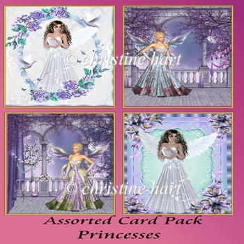 Assorted Card Pack Princesses