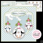 Penguin Holly Baubles Mini Kit