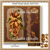 Amber Roses Square Card Front