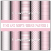 Pink And White Theme Papers 2