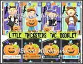Little Tricksters Halloween Tag Booklet with Ghost Journal Tags