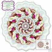 "Sweet Peas Lace Doily - 7"" X 7"" Card Topper"