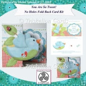 You Are So Tweet! No Holes Fold Back Card Blue Bird