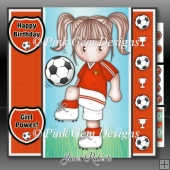 Football Chloe Red Mini Kit With Ages 3 to 7 yrs