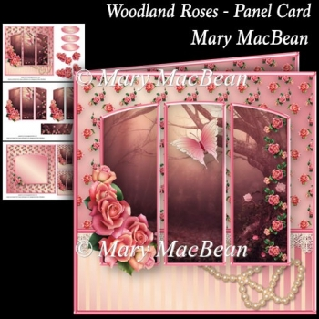 Woodland Roses - Panel Card